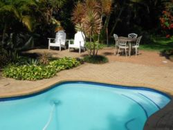 Relax or swim. Crystal clear large pool. Gas braai on patio. Illuminated for evening braais. Pool net available.