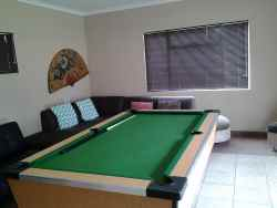 Entertainment room with snooker table