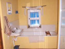 Bathroom with bath an shower