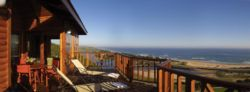Sea view from chalet decks,
