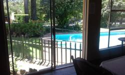 View of pool from Indoor braai (BBQ) Facility