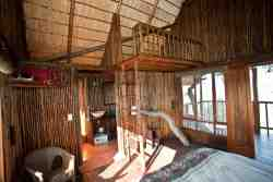 A view of the loft in one of our two standard tree houses
