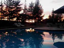 Swimming Pool with Sunrise