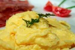 Scrambled Eggs are fluffy and rich