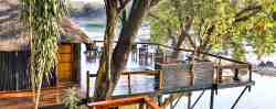 Main Lodge with the deck overviewing the Olifants river