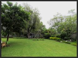 Garden view and play area