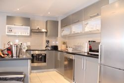 Kitchen is fitted with new, top of the range modern appliances