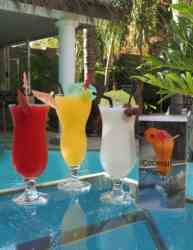 Exquisite Cocktails at the Tiki Bar & pool
