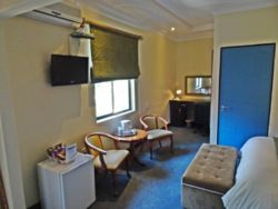Luxury Double room with TV desk , chairs and mini bar
