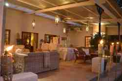 Cosy verandas at Main House restaurant