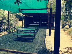 Braai area next to pool