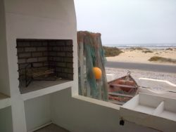 braai on stoep with unobstructed sea view