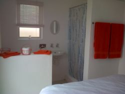 en-suite shower and toilet in main bedroom