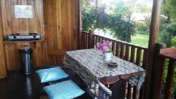 Wooden deck- seperate for each CARLOW & CLAIRE suites