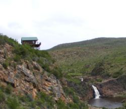 Our main chalet 80 meters over the water fall and the dam 60 mtrs by 80 mtrs.its just lessthan 120 mtrs from the office.
