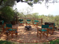 Braai Area with a bush veld atmosphere