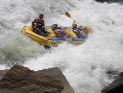 White river rafting on the Ashvaal river.