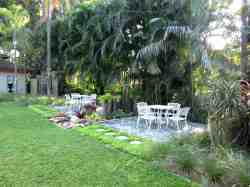 Guests can relax in the garden