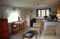 Cottage open plan lounge/kitchen area