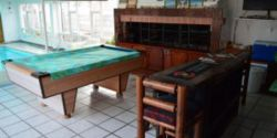Pool table &indoor barbeque facility