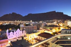 Balcony view of Cape Town and Table Mountain