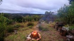 The Cabin features a rustic braai area, set just below the Cabin deck, so that you are fully hidden inside the fynbos.