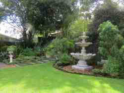 A lovely fountain courtyard garden