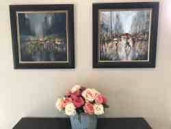 Orginal paintings in reception area by Anneline Theunissen
