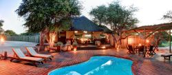 Main Lodge, sun deck and pool. A relaxed ambience naturally set as the sun disipates