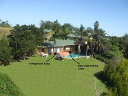 Aerial View of Pool Side Accommodation