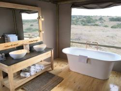 Luxury Family Safari Tent Bathroom