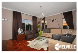 Lounge with expansive views of Johannesburg - at 25 8th Avenue, Melville, Johannesburg