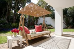 Outdoor Patio Swinging Sun Lounger