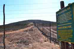 The National Namaqua Parks Beggining Fence starts at the end of our Farm.