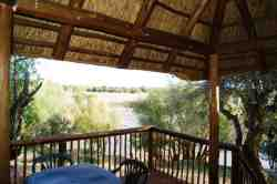 The balcony overlooking the Orange River