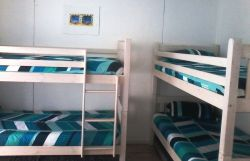 Children's den : 4 single stack beds plus double bed