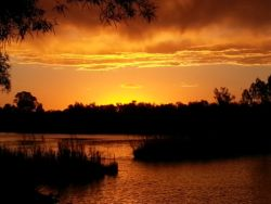 Sunset over the Vaal river