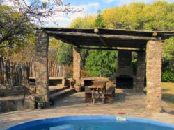 Pool with boma and braai area