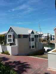 View from the patio to the water slipway