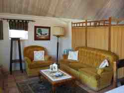 Lounge area,bedroom behind divider