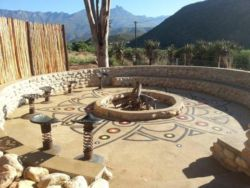 Firepit and braai area