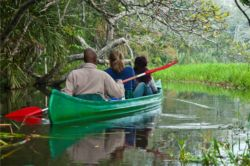 Guided canoe trips - stunning scenery