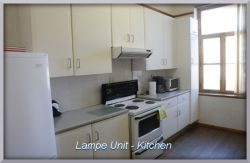 Our Lampe Apartement has a large kitchen...