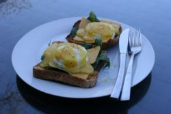 Eggs benedicte for breakfast