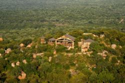 Aerial view of Manyatta Rock Camp