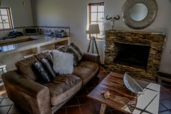 Fire place at Springbok cottage