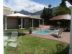 Great view of Towerkop and Mountains, the garden with swimming pool