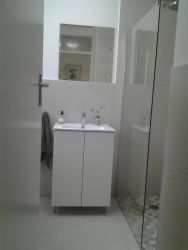 Bathroom, with toilet on the left