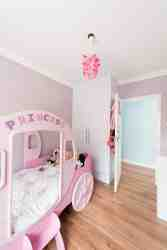 The first kids bedroom has a Princess bed which is ideal for little girls, but as a single bed, can fit a small adult too.