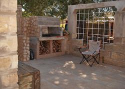 The braai area that guests are welcome to use.
